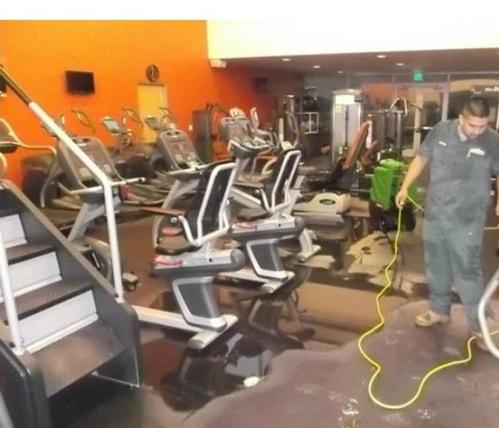 Broken Pipe Flooded Gym Before